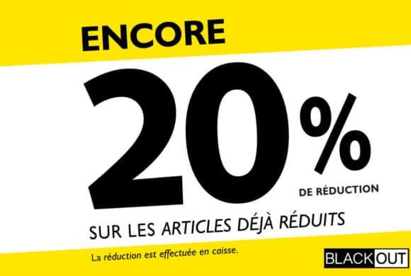Blackout – 20% de réduction