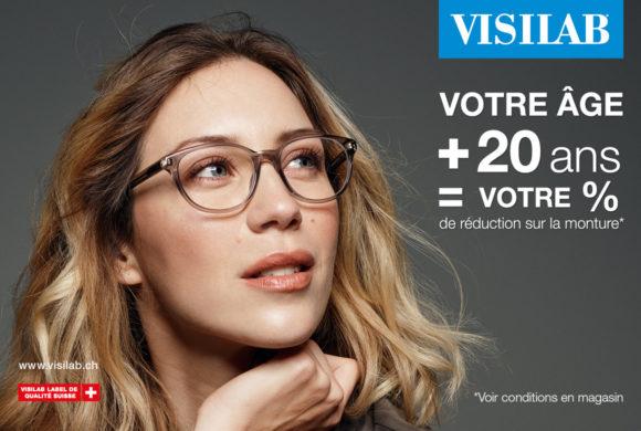 Visilab – Votre Age + 20 ans = Votre % de réduction sur votre monture