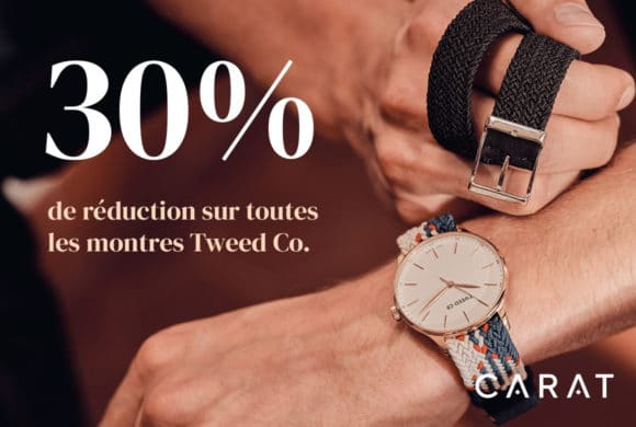 Carat – 1 montre achetée 1 bracelet offert
