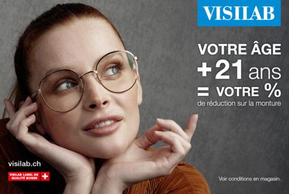Visilab – Votre âge + 21 ans = Votre % de réduction sur la monture