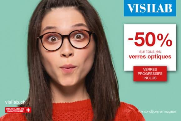 Visilab – Tous les verres optiques à -50%, verres progressifs inclus