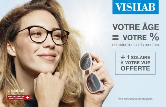 Visilab – Votre âge = Votre % de réduction sur la monture + 2ème paire à votre vue offerte